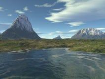 Scottish Landscape - 1. Digital render of a Scottish highland landscape royalty free illustration