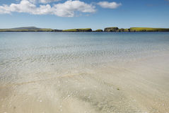 Scottish landscape with beach in Shetland. Scotland. UK Stock Images