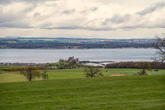 Scottish landscape of Blackness Castle and Firth of Forth Stock Photography