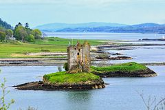 Scottish landscape with castle Stock Image