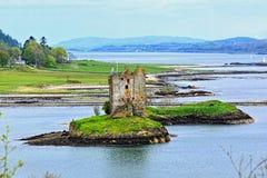 Scottish landscape with castle Stock Image