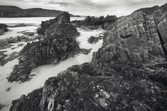 Scottish landscape coastline and beach. Highlands. Scotland Royalty Free Stock Photos