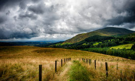 Scottish landscape. A dramatic cloudy sky in Scotland Stock Images
