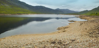 Scottish landscape with loch and mountains Royalty Free Stock Image