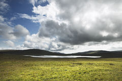 Scottish landscape with loch in Shetland islands. Scotland. UK Royalty Free Stock Photography