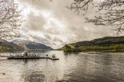 Scottish landscape. Near 'Loch Lomond' lake, at the Inveruglas Visitor Centre Royalty Free Stock Image