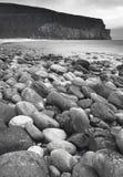 Scottish landscape in Orkney. Hoy pebble beach. Scotland Stock Photos