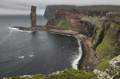Scottish landscape in Orkney. Old man of Hoy. Scotland Royalty Free Stock Photos