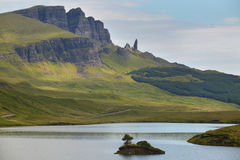 Scottish landscape in Trotternish peninsula. Skye isle. Scotland Stock Photos