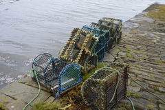 Scottish Lobster pots Royalty Free Stock Photos