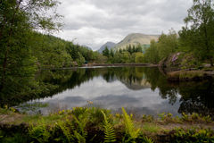 A scottish Loch. In the Highlands Royalty Free Stock Image