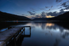 Scottish Loch Earn in Saint Fillans with pier Royalty Free Stock Image