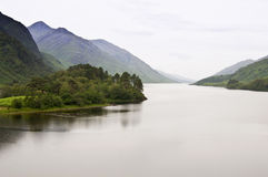 Scottish loch on a rainy day Stock Photo
