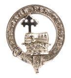 Scottish MacDonald Clan Family Crest On White Stock Image