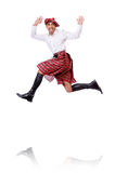 Scottish man dancing Royalty Free Stock Images