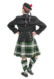 Scottish man in traditional national costume back posing Royalty Free Stock Image