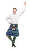Scottish man in traditional national costume Royalty Free Stock Image