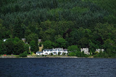 Scottish manor on the shore of loch Earn Royalty Free Stock Image