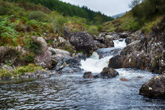Scottish mountain river. Creek in Galloway Forest Park in the Scottish mountains stock images