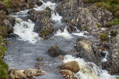 Scottish mountain river. Creek in Galloway Forest Park in the Scottish mountains royalty free stock images