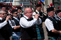 Scottish musicians during the demonstration for peace Stock Photography