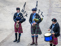 Scottish musicien bagpiper6 Stock Photos