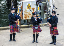 Scottish musicien bagpiper7 Stock Photos