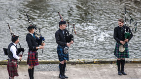 Scottish musicien bagpiper8 Royalty Free Stock Images