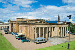 Scottish National Gallery. The neoclassical Royal Scottish Academy Building, and of the National Gallery of Scotland. Edinburgh, Scotland royalty free stock photos