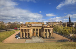 Scottish National Gallery. The neoclassical Royal Scottish Academy Building, and of the National Gallery of Scotland. Edinburgh, Scotland. Photo taken on: May royalty free stock photos