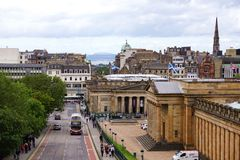 Scottish National Gallery And The Royal Scottish Academy, Edinburgh, Scotland Stock Images