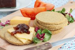 Scottish oatcakes Royalty Free Stock Images