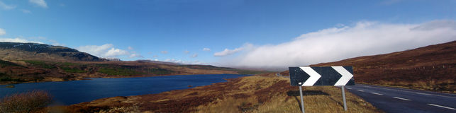 Scottish Panorama at Loch Lochy Royalty Free Stock Photos