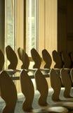 Scottish Parliament. Seats inside the Scottish Parliament Stock Photo