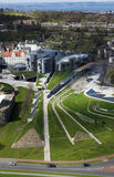 Scottish Parliament. View over Scottish Parliament, Edinburgh royalty free stock photography