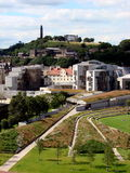 Scottish Parliament and Calton Royalty Free Stock Photo