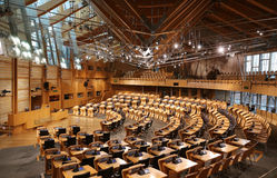 Scottish Parliament Debating Chamber Royalty Free Stock Images
