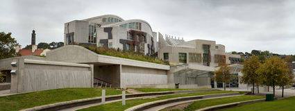 Scottish Parliament exterior Stock Photo