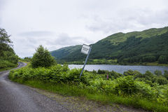 Scottish passing place road sign Royalty Free Stock Photos