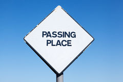 Scottish passing place signpost Royalty Free Stock Photo
