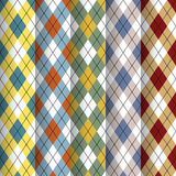 Scottish patterns set Royalty Free Stock Photography