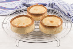 Scottish pie on a cooling rack Royalty Free Stock Images