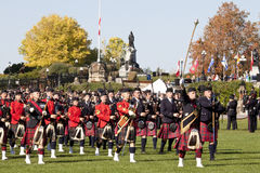 Scottish pipe band at parliament hill,ottawa Royalty Free Stock Photography