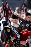 Scottish piper Stock Images