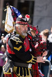 Scottish piper. Picture Taken During The 13th Annual Tartan Day Parade On Saturday April 9, 2011 In New York City. The Parade Begins At 45th Street On Sixth royalty free stock photography