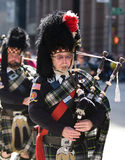 Scottish piper. Picture Taken During The 13th Annual Tartan Day Parade On Saturday April 9, 2011 In New York City. The Parade Begins At 45th Street On Sixth royalty free stock images