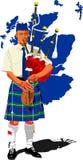 Scottish piper. Travel illustration vector Stock Images