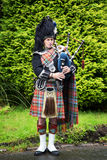 Scottish piper Stock Images
