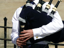 Scottish piper Royalty Free Stock Photos