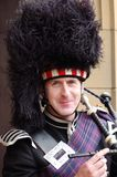 Scottish piper. Portrait photograph of a Scottish piper in traditional dress Royalty Free Stock Photography